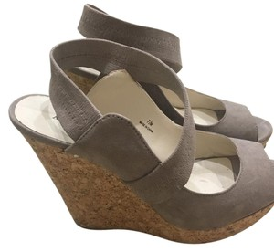 Audrey Brooke Grey-Taupe Wedges