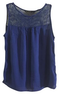 Zara Lace Tank Top Blue