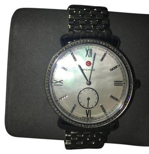 Michele Michele Gracile Diamond Stainless Steel MOP Watch