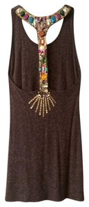 Meghan LA short dress Brown Beaded Racerback on Tradesy