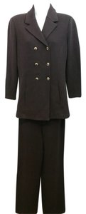 St. John St. John Essentials Dark Brown Double Breasted Knit Pant Suit 4