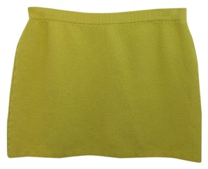 St. John Yellow Knit Skirt
