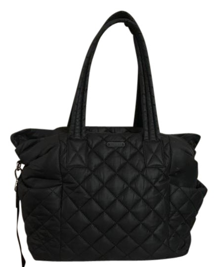 Michael Kors Black Nylon Roberts Large Quilted Duffle
