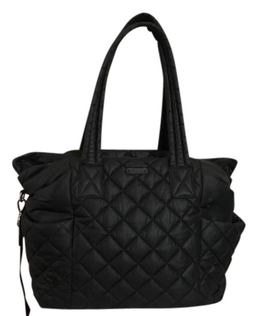 Item - Duffle Roberts Large Quilted Black Nylon Diaper Bag
