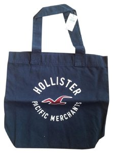 Hollister Embroidered Tote in Navy Blue