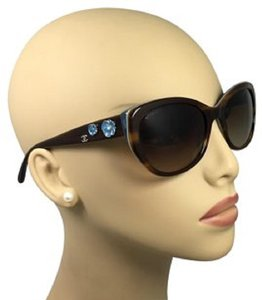 Chanel CHANEL BROWN BLUE FRAME AUTHENTIC SUNGLASSES