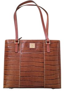 Dooney & Bourke And Leather Tote in Croco