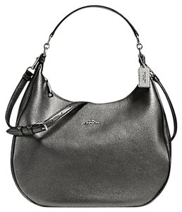 Coach Metallic Slouchy Convertible Strap Soft Leather Cross Body Bag