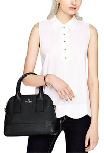 Kate Spade Leather Gold Hardware New York Classic Tote in Black