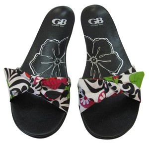 Gianni Bini Size 10.00 M Very Good Condition Black, White, Red, Green Sandals