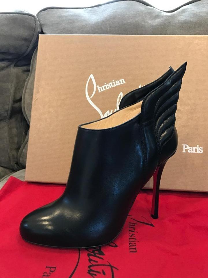 2c22c8feee5 Christian Louboutin Black Mercura Wing Leather Ankle Heels Boots/Booties  Size EU 35.5 (Approx. US 5.5) Regular (M, B) 39% off retail