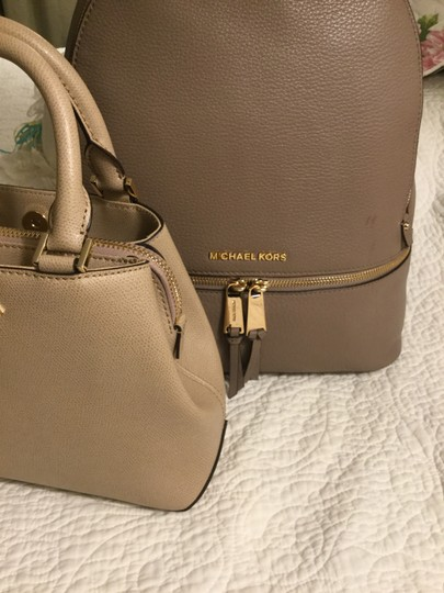 Michael Kors Pebbled Leather Gold Hardware New Backpack