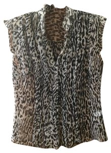 Banana Republic Top Black / White print