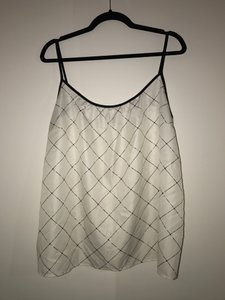The Limited Geometric Print Sleeveless Top Black and White