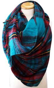 Other Teal Plaid Blanket Scarf