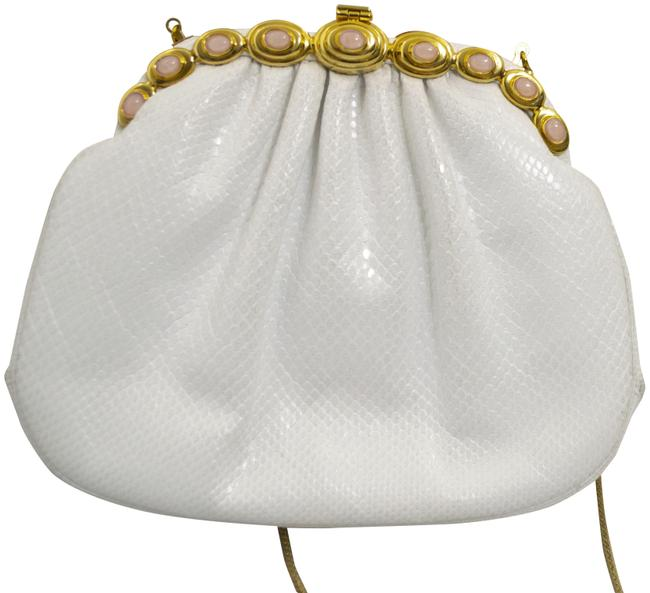 Item - White / Gold / Pink Leather Cross Body Bag