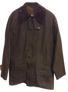 Barbour Waxed Canvas Zippered Cordoroy Collar Jacket