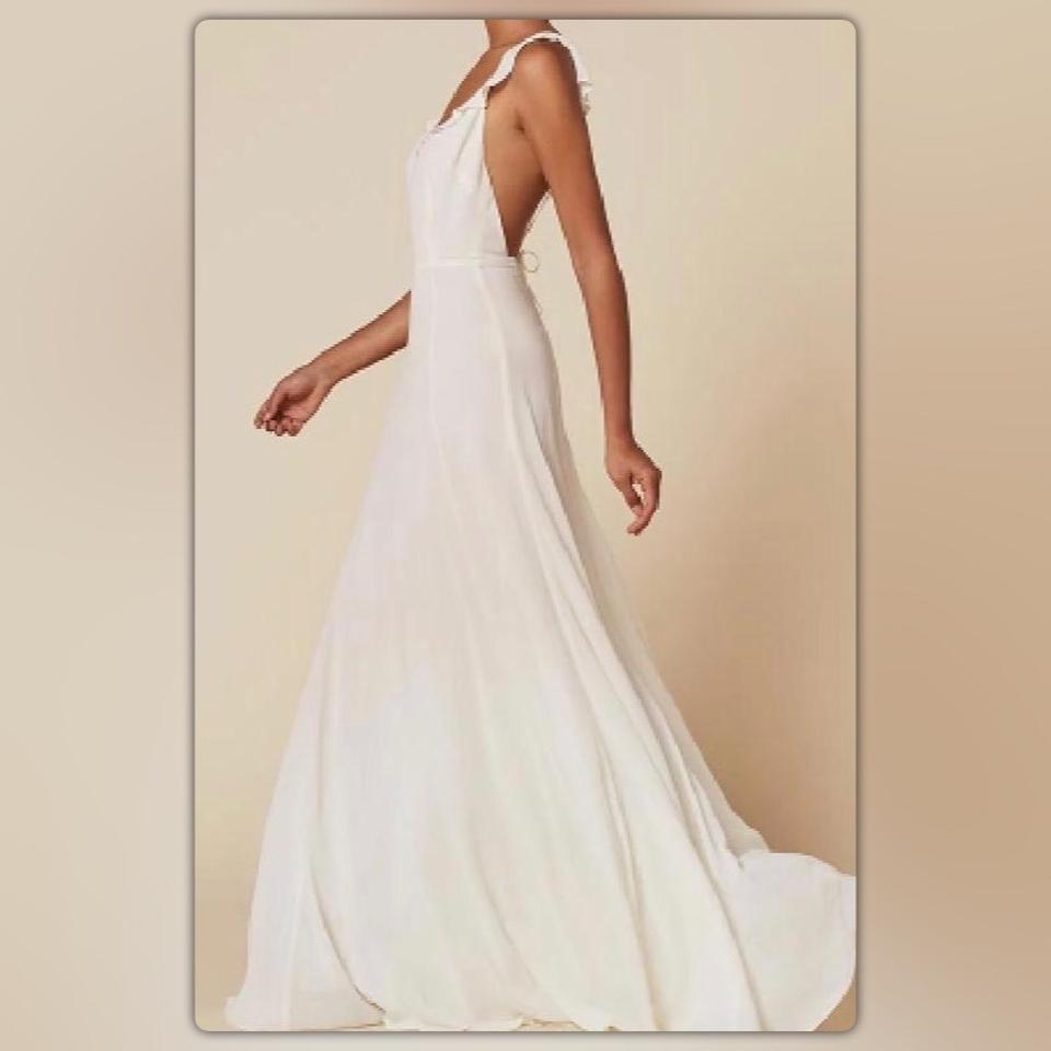 Reformation White Isabella Feminine Wedding Dress Size 0 (XS) - Tradesy