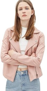 Forever 21 Leather Faux Leather Textured Motorcycle Jacket