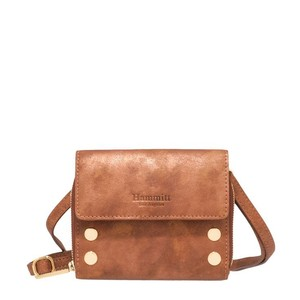 Hammitt Leather Gold Hardware Lining Studded Cross Body Bag