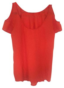 Sparkle & Fade Night Out Party Date Night Cut-out Top Red orange