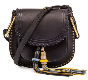 Chlo Stud Crossbody Tassel Made In Italy Shoulder Bag