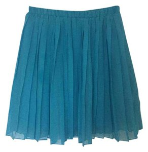 Sparkle & Fade Casual Night Out Party Chiffon Mini Skirt Blue