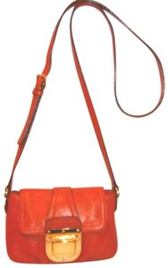 Michael Kors Refurbished Leather Small Lined Orange Cross Body Bag