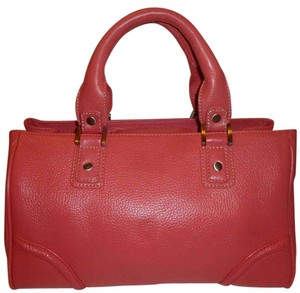 Talbots Refurbished Leather. Rose. X-lg Lined Satchel in Rose (Pinkish-Orange)