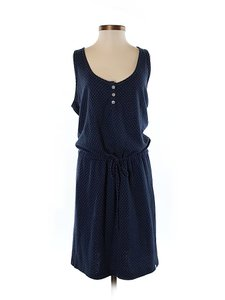 Sol Angeles short dress Navy Polka Dot Sleeveless Drawstring on Tradesy