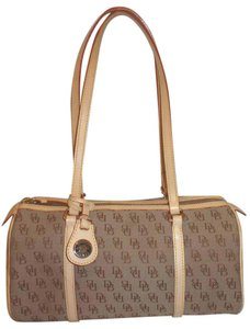 Dooney & Bourke Refurbished Monogram Jacquard Lined Leather Shoulder Bag