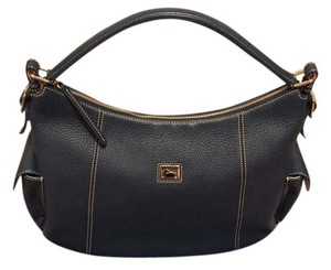Dooney & Bourke Leather Gold Hardware Structured Soft Hobo Bag