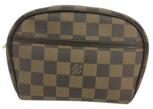Louis Vuitton Lv Damier Ebene Pochette Ipanema Canvas Shoulder Bag