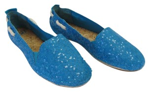 Gianni Bini Brand New Size 11.00 M Padded Footbed Sequins Excellent Condition Turquoise, White Flats