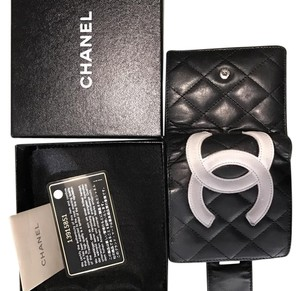 Chanel Authentic Chanel black quilted wallet