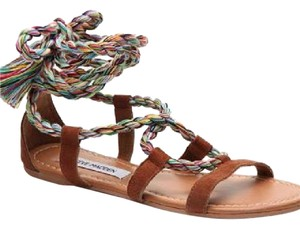 Steve Madden Brown, Tan, Pink, Blue, Green, White, Yellow, Purple, Orange, Black Sandals