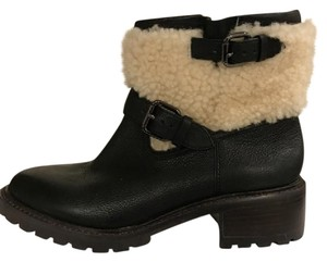 Coach Shearling Size 6b Black Boots