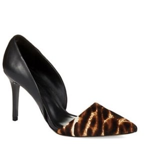 Aerin black and animal print Pumps