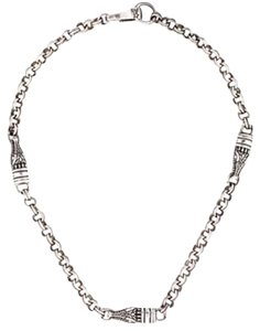 Barry Kieselstein-Cord Barry Kieselstein-cord Necklace with three alligator head stations