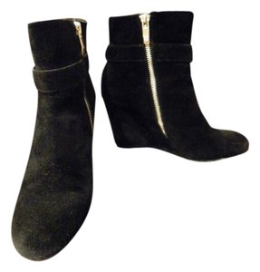 Vince Camuto Ankle Leather Black Boots