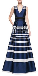 Carolina Herrera Jacquard Striped Stunning Worn Once Sold Out!! Dress