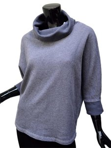 Stem Cowl Neck Dolman Soft Tunic Oversized Sweater