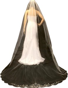 Bella Tiara Ivory Cathedral Beaded Wedding Veil - Special