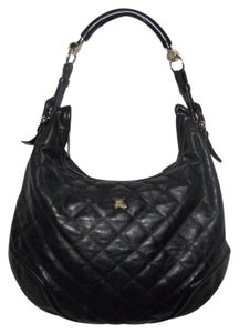 Burberry Prorsum Leather Quilted Gold Hardware Made In Italy Hobo Bag