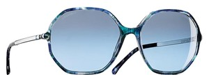 Chanel CHANEL Diamond Round Signature Sunglasses Blue Multi