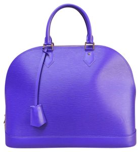 Louis Vuitton Lv Like New Epi Alma Gm Tote in blueviolet