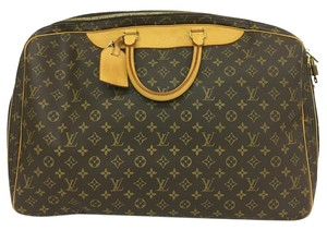 Louis Vuitton Lv Monogram Alize 2 Poches Canvas brown Travel Bag