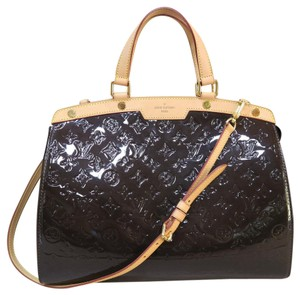 Louis Vuitton Lv Brea Gm Vernis Satchel in black
