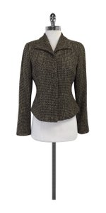 Max Mara Tweed Wool Black & Taupe Jacket