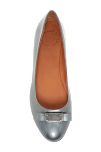 Marc by Marc Jacobs Bow Shiny Glossy Silver Flats